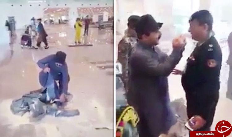 آقای وزیر، لباس هایش را در فرودگاه آتش زد! + عکس