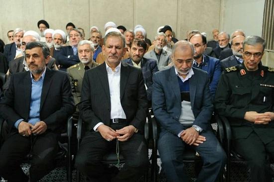 احمدی نژاد هم به دیدار رهبری رفت + عکس