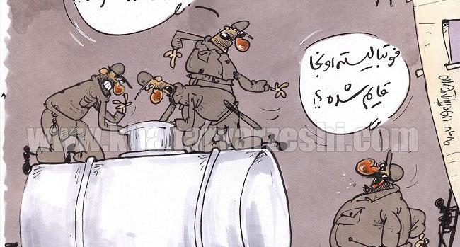 فوتبالیست معروف در پارتی شبانه و تانکر آب! + عکس