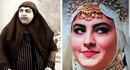 تفاوت بانوان قاجار اورجینال و تلویزیون! + عکس