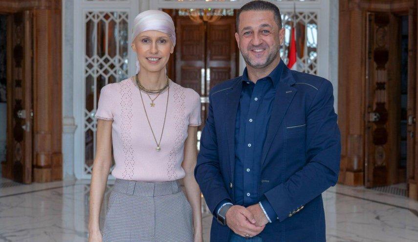 خبرنگار العالم با همسر بشار اسد دیدار کرد+عکس