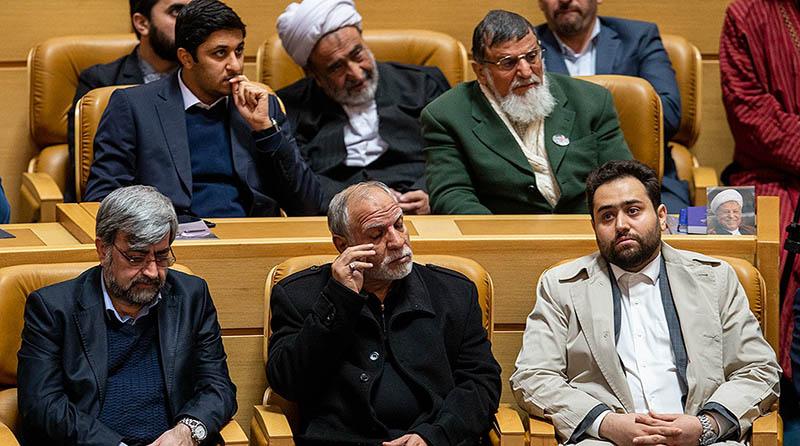 داماد روحانی در صف اول مراسم سالگرد مرحوم هاشمی + عکس