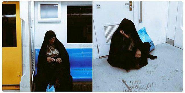 ماجرای جنجالی یک افغان در متروی تهران + عکس