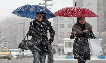 آغاز بارش برف و باران  در ۱۲ استان