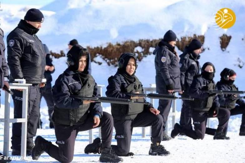 آموزش بانوان پلیس افغانستان در ترکیه + تصاویر