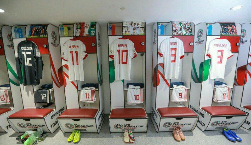 تصویر زیبا از رختکن تیم ملی پیش از بازی با ویتنام + عکس
