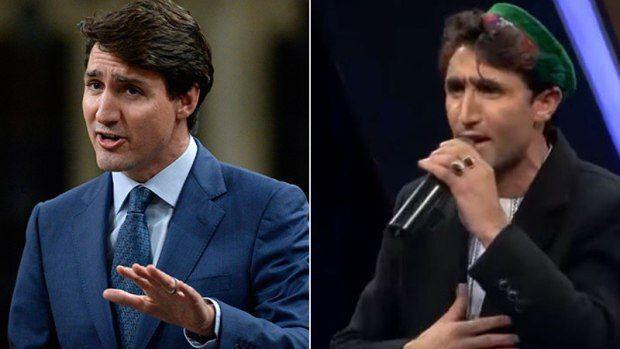 شباهت باورنکردنی خواننده افغان با نخست وزیر کانادا! + عکس