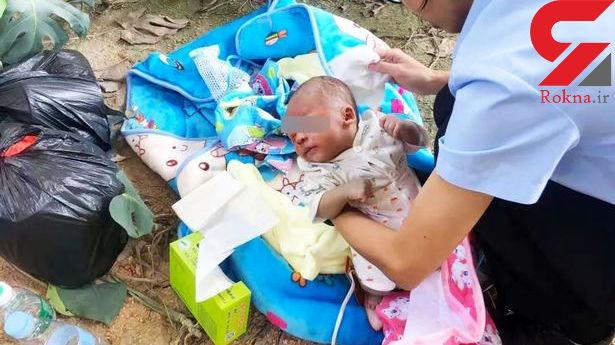 رها کردن نوزاد در وحشتناک ترین محل + عکس