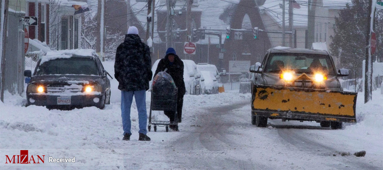 برف و کولاک شدید در آمریکا + عکس