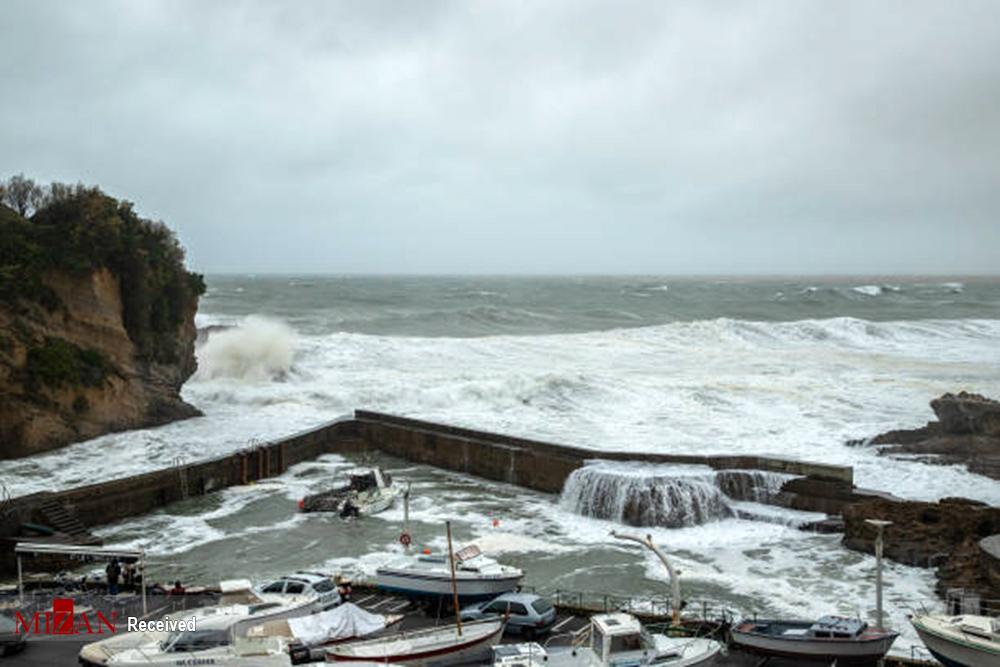 طوفان سهمگین در فرانسه + عکس