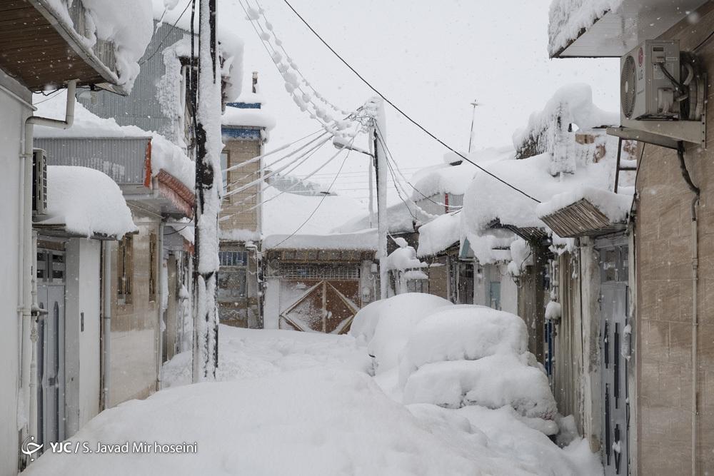 لباس تابستانی زیر بارش شدید برف در رشت! + عکس