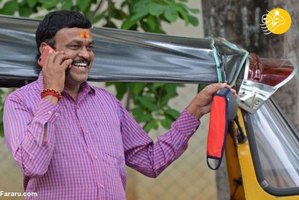 757685 - دهن کجی هندیها به ماسک زدن! + عکس