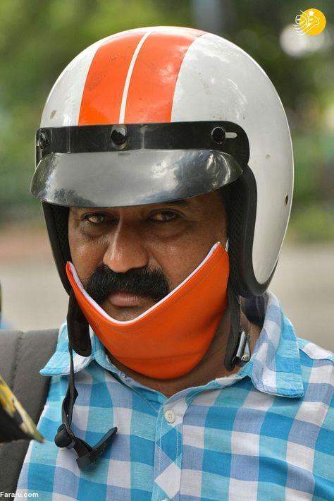 87574980 - دهن کجی هندیها به ماسک زدن! + عکس
