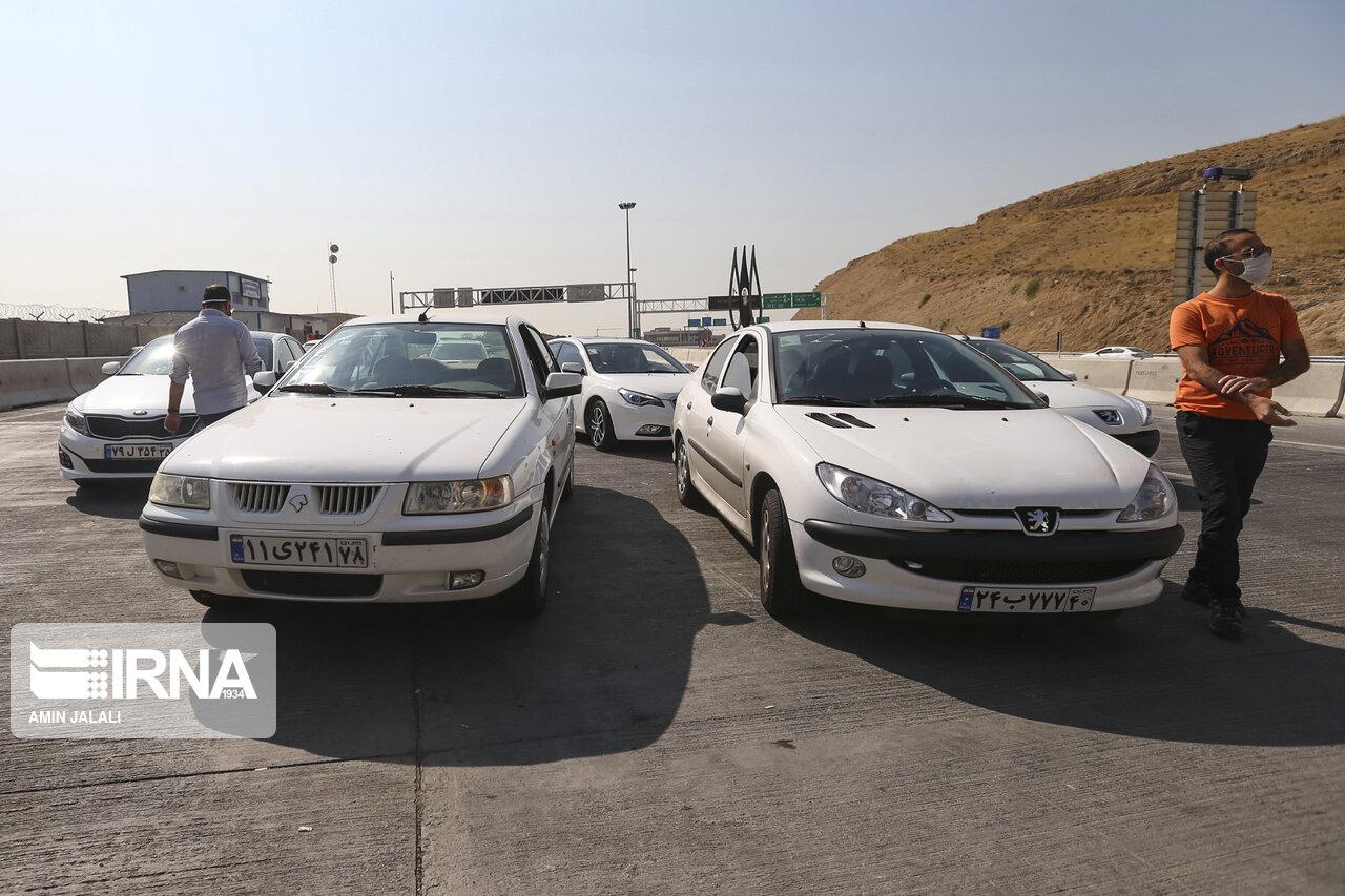 کنترل و تردد خودروها در مبادی ورودی خروجی تهران + عکس