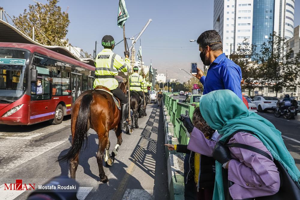 5984572846 - علاقه تهرانی ها به یگان اسب سواران ناجا + عکس