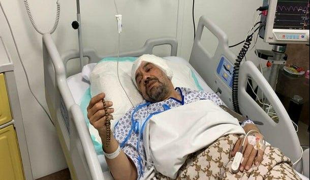 محمود کریمی تحت عمل جراحی قرار گرفت + عکس