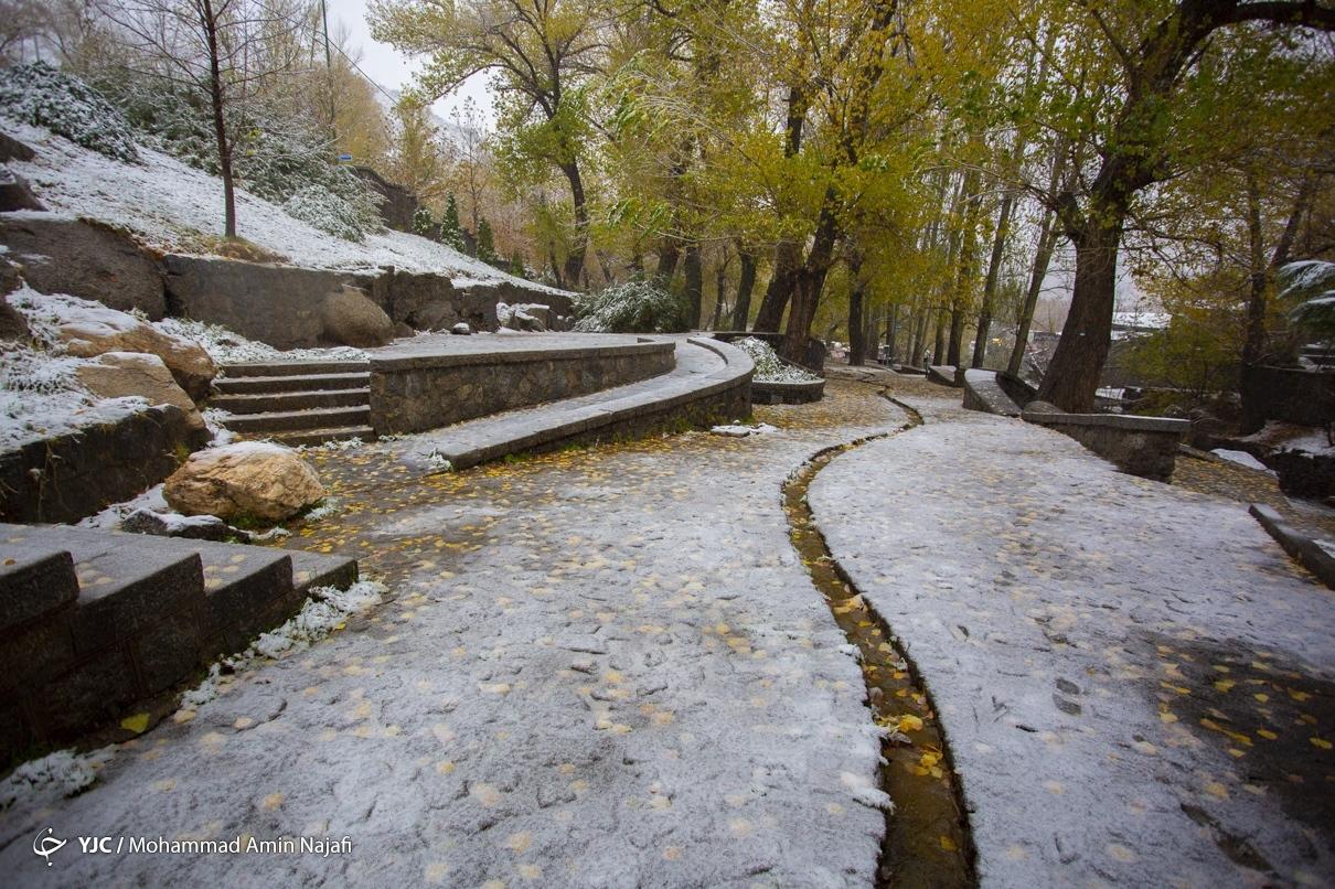 40010 - بارش اولین برف امسال در همدان+عکس