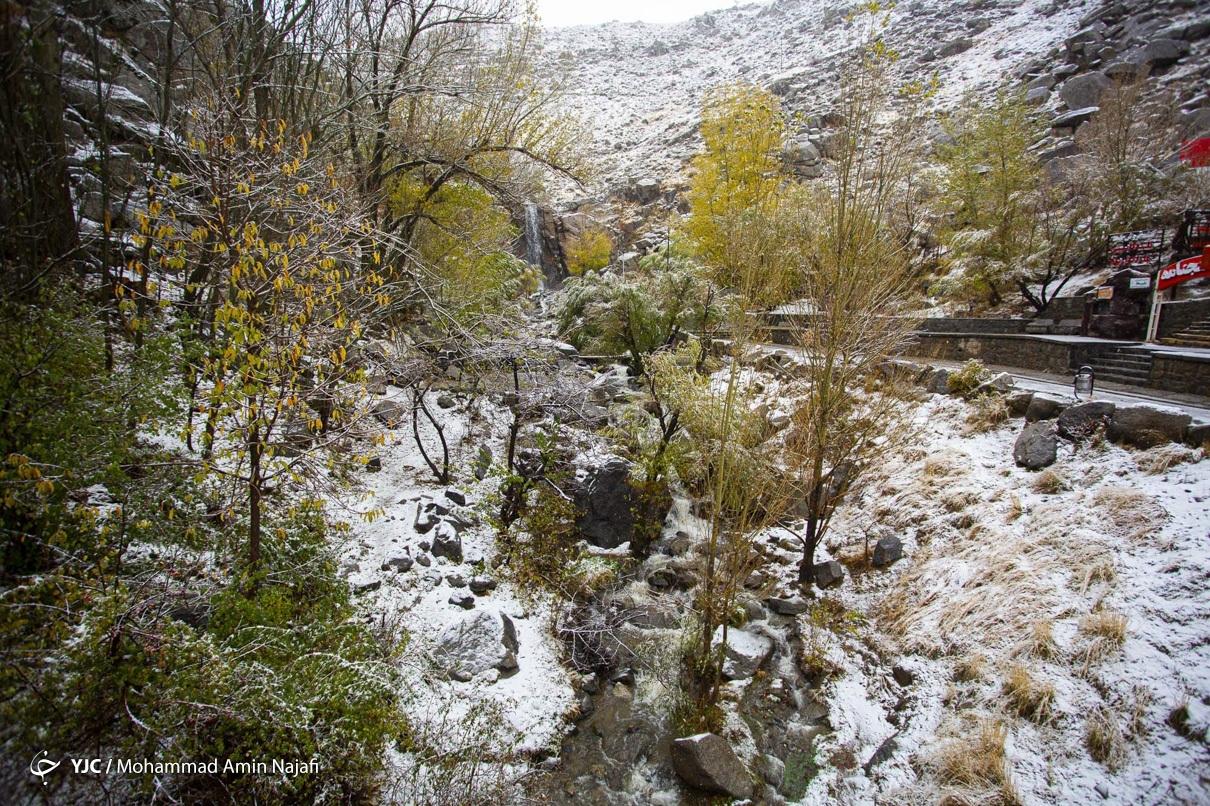 40014 - بارش اولین برف امسال در همدان+عکس
