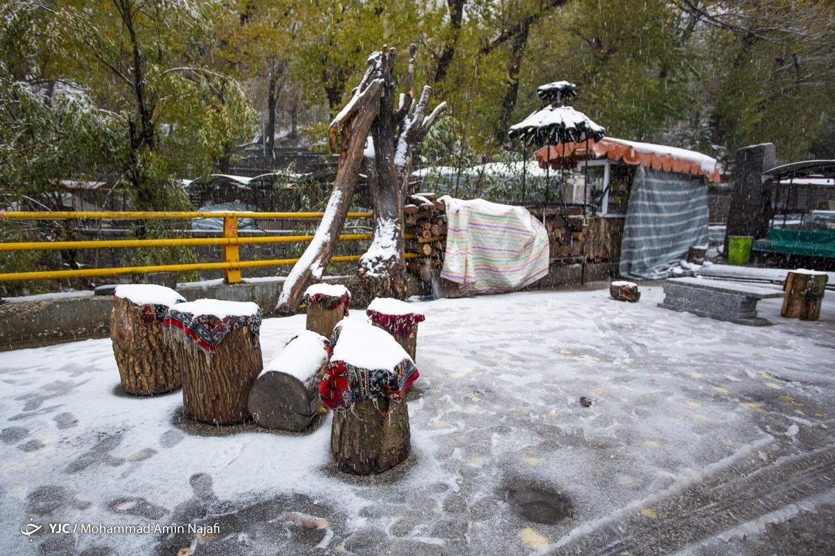 40018 - بارش اولین برف امسال در همدان+عکس