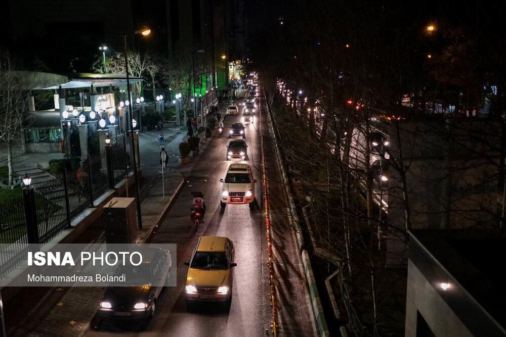 وضعیت تهران راس ساعت ۲۱ + عکس