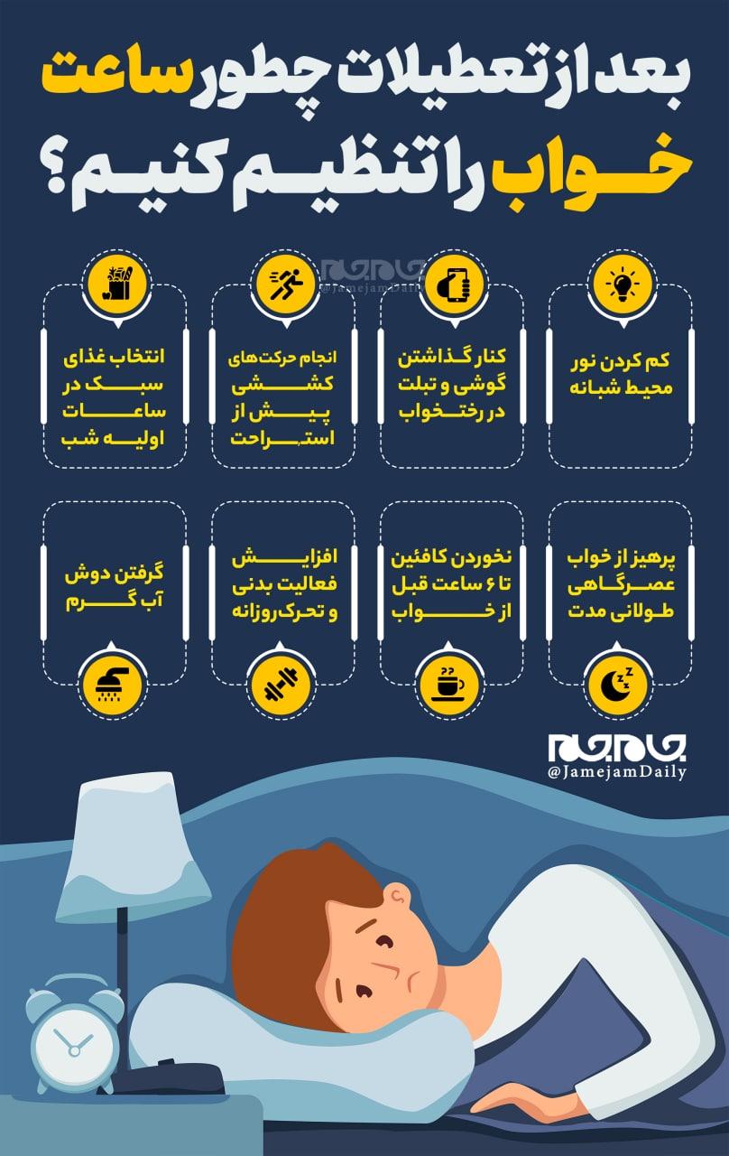 بعد از تعطیلات چطور ساعت خواب را تنظیم کنیم؟ + عکس