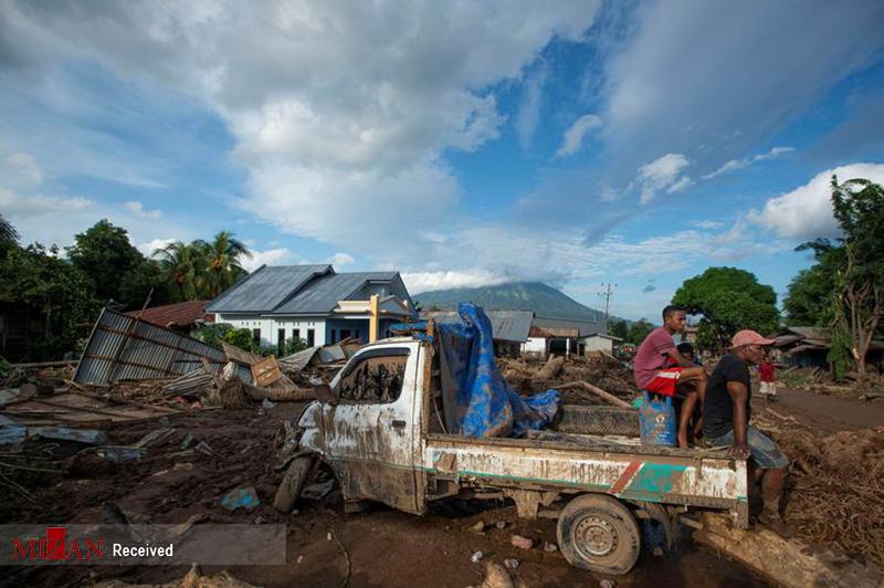 طوفان مرگبار اندونزی + عکس