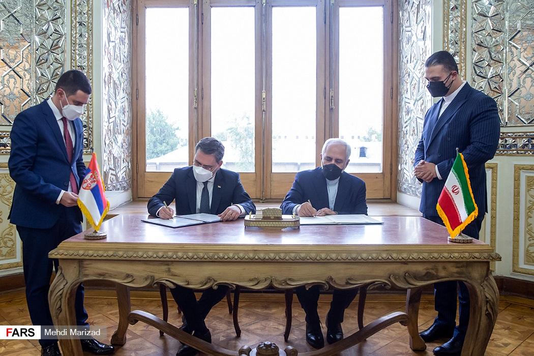 دیدار وزیر امور خارجه صربستان با ظریف + عکس