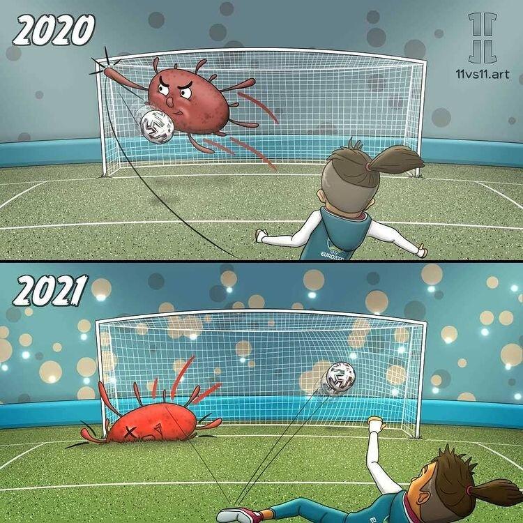 تفاوت دنیای فوتبال در سال ۲۰۲۰ و ۲۰۲۱  + عکس