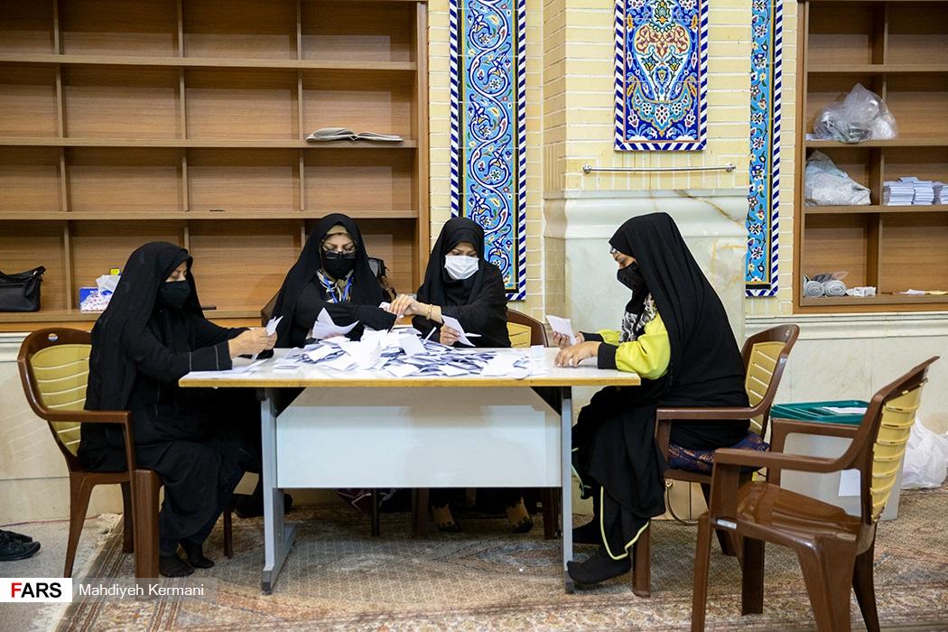 شمارش آرای شعب اخذ رای در تهران + عکس
