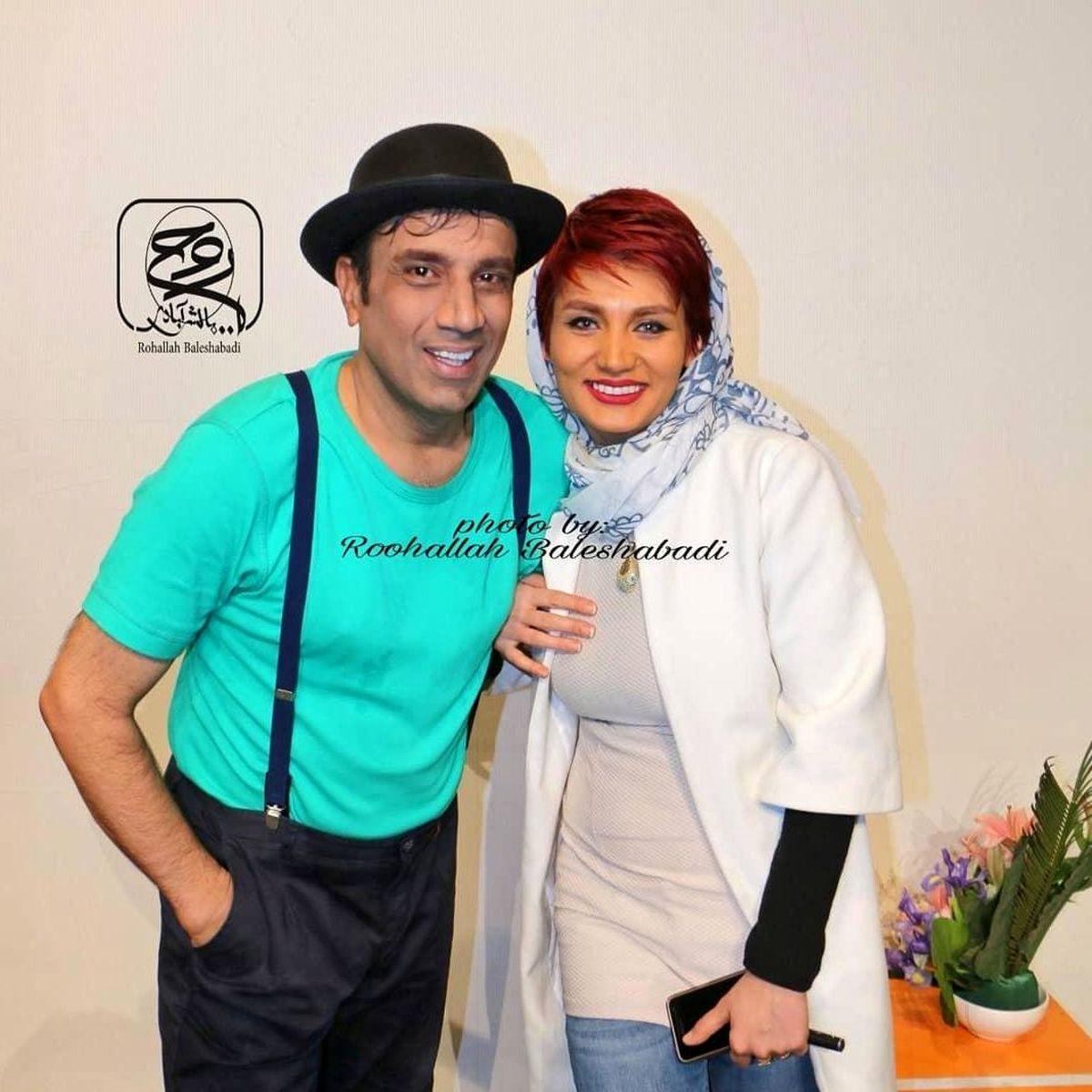 تیپ عجیب نصرالله رادش در کنار همسر جوانش + عکس