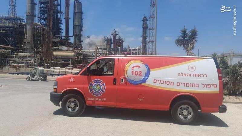10032 - انفجار در پالایشگاه «اشدود» در فلسطین اشغالی + عکس