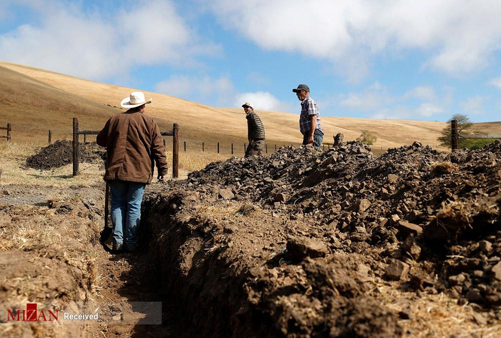 خشکسالی تاریخی در غرب امریکا + عکس