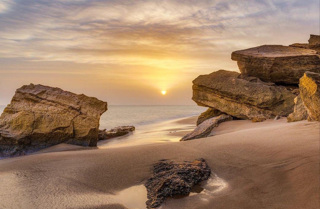 نمایی از ساحل چابهار دریای عمان + عکس