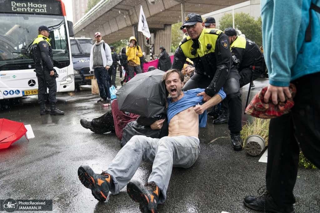دستگیری فعالان محیط زیستی در هلند + عکس